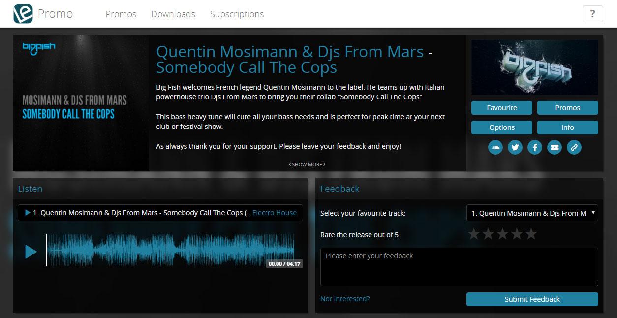 Music Promotion Label Engine