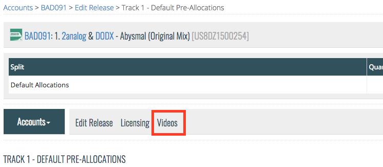 Video Pre-allocations